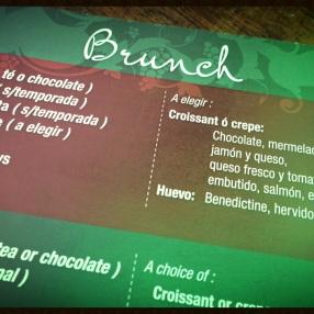 El menú del brunch