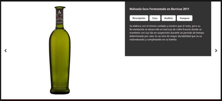 Ficha del Malvasía seco fermentado en barrica de Bodega Los Bermejos
