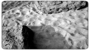La arena de la playa de Famara