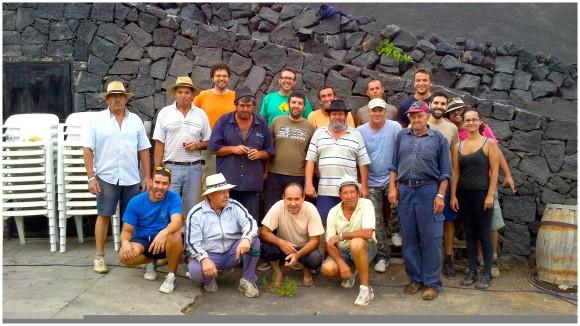 Gente (buena) de vendimia en Lanzarote